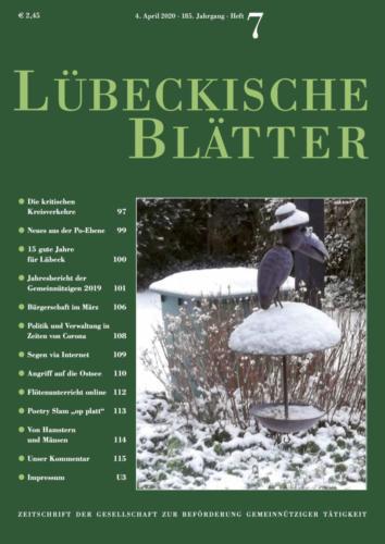Lübeckische Blätter 4. April 2020 Seite 1