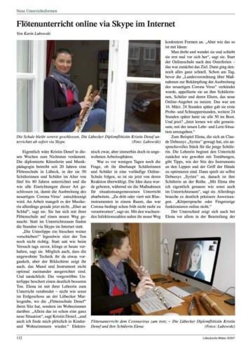 Lübeckische Blätter 4. April 2020 Seite 2