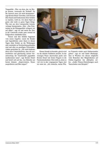Lübeckische Blätter 4. April 2020 Seite 3